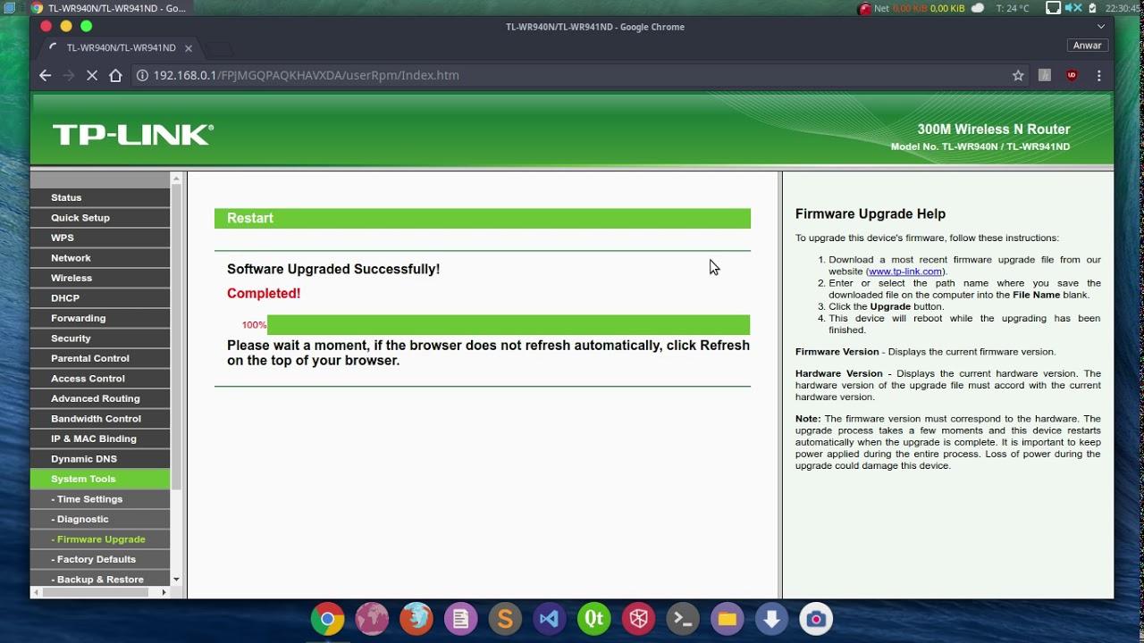 OpenWrt WR941ND v5 1 Flash via SysUpgrade