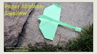 How To Make A Paper Airplane - Swallow Plane - Origami Paper Planes  - Summer Crafts Kids