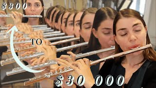 ONE piece of music//TWELVE different flutes (Expensive vs Cheap)