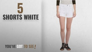 Top 10 Shorts White [2018]: Hypernation White Color Cotton Shorts For Women
