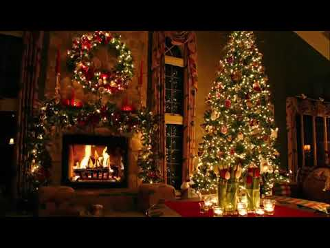 Classic Christmas Music with a Fireplace and Beautiful Background Classics 2 hours