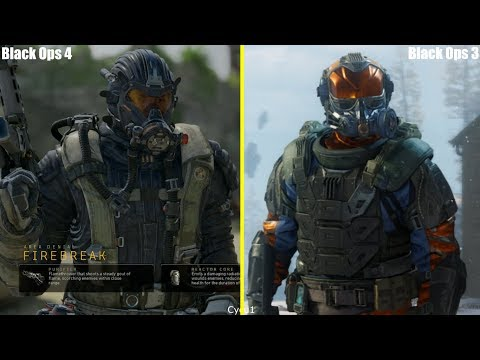 Call of Duty Black Ops 4 vs Black Ops 3 Every Specialist Model Comparison
