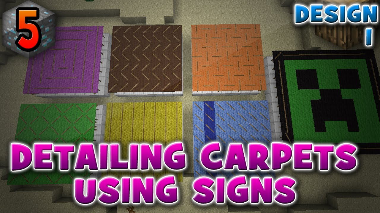 detailing carpets with signs design