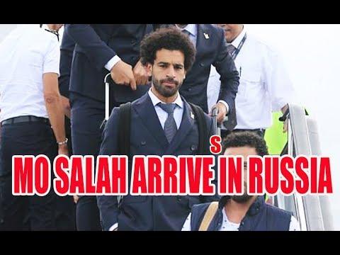 MO SALAH ARRIVES IN RUSSIA