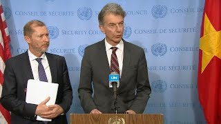 Belgium & Germany on the humanitarian situation in Syria - Security Council Stakeout (10 January)