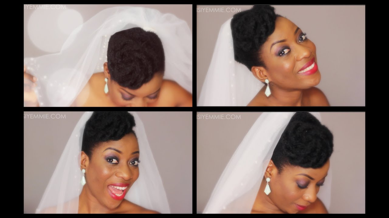 Natural Hair Updo : Bridal Inspired!