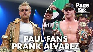 Canelo Alvarez kicks two Jake Paul fans out of ring   Page Six Celebrity News