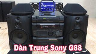 Dàn Trung Sony G88 test nhạc disco - Full 4 loa - Giá 3Tr2 - LH 036.6543.886