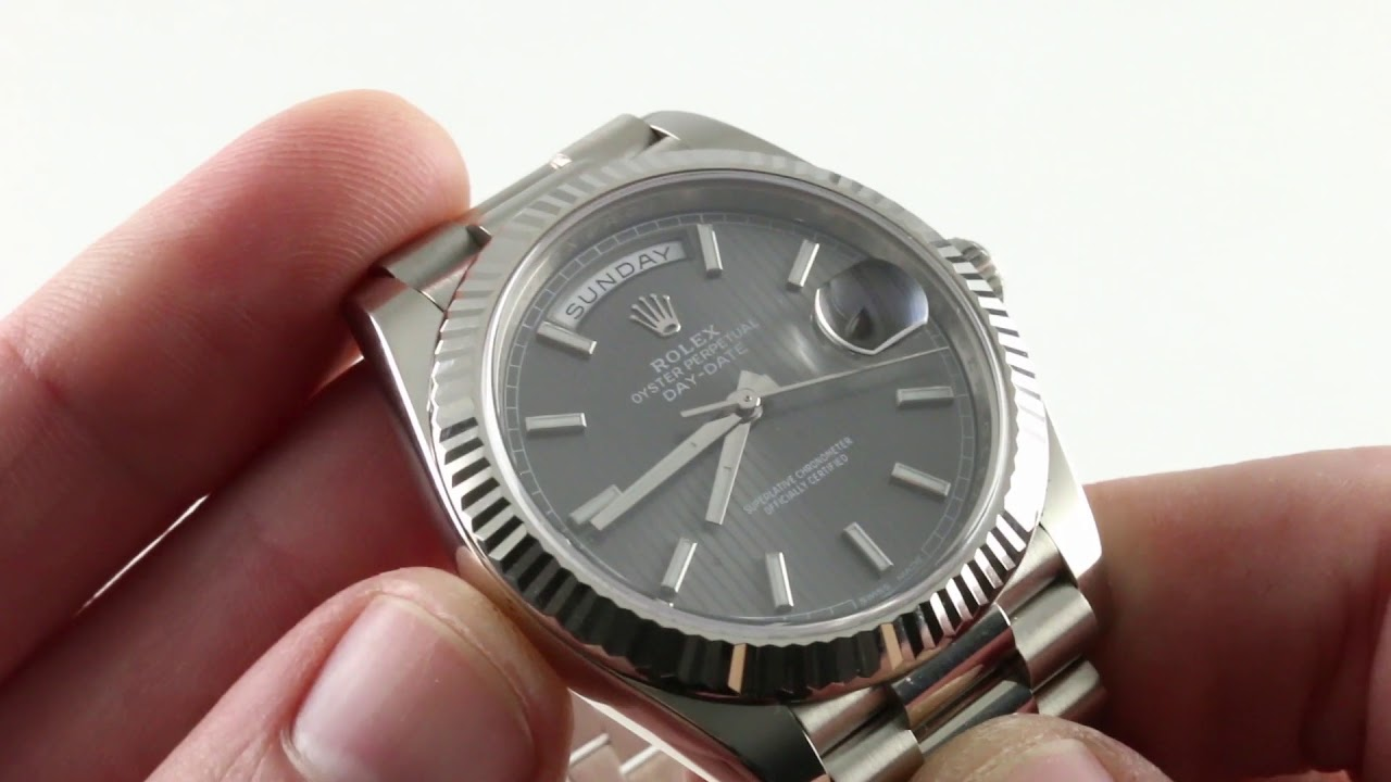 Rolex Oyster Perpetual Day Date 40 228239 Luxury Watch Review