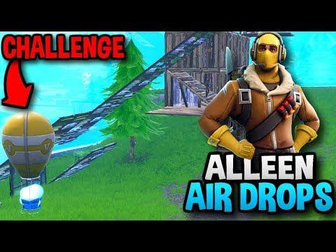 ALLEEN LOOT UIT SUPPLY DROPS GEBRUIKEN!! - Fortnite Challenge
