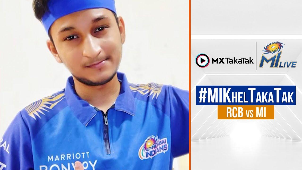 Fans who featured using #MIKhelTakaTak during RCB vs MI   IPL 2021