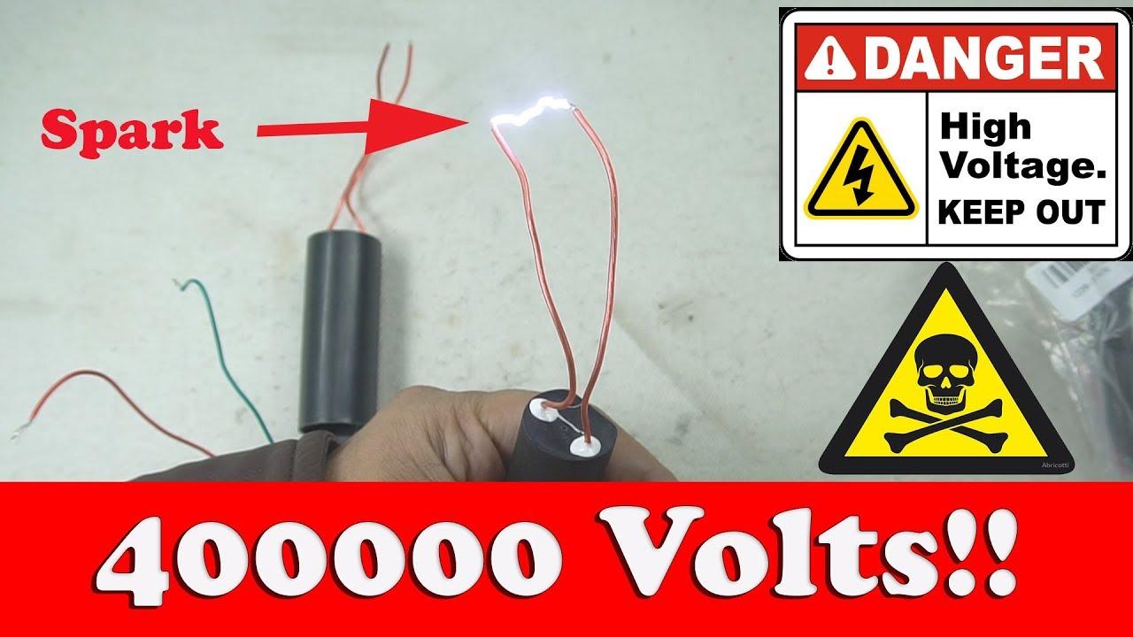 🎆📢400000 Voltage Generator: Danger !!!!!📵🎰DC 3 7V-6V To 400KV Boost  Step Up Module