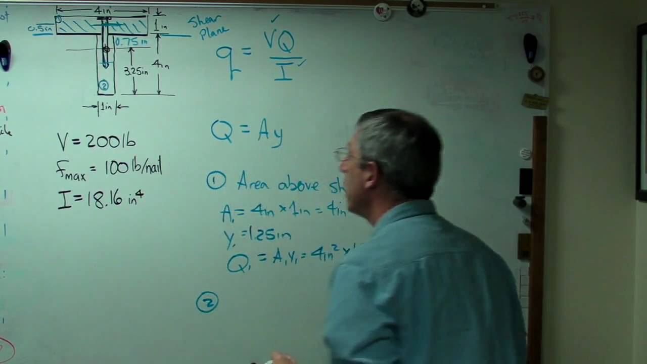 Shear Flow In T Beammp4 Youtube Diagrams For Beams Bending Moment And Force Diagram Calculator