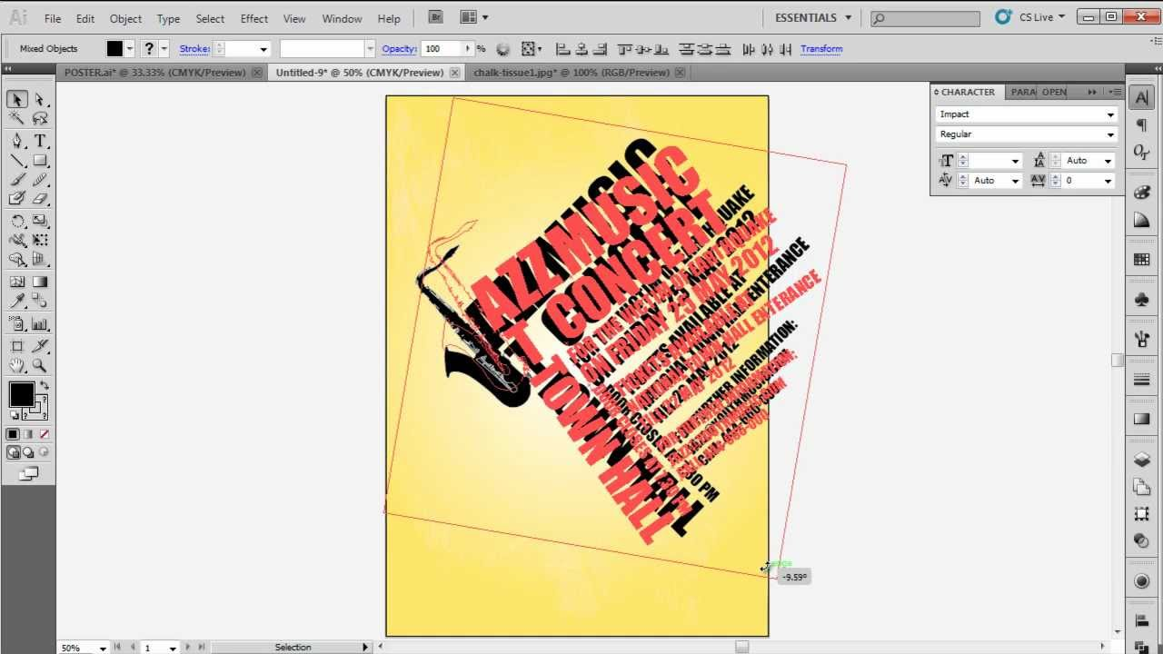 Poster design illustrator - How To Design A Typographic Poster In Adobe Illustrator Cs5
