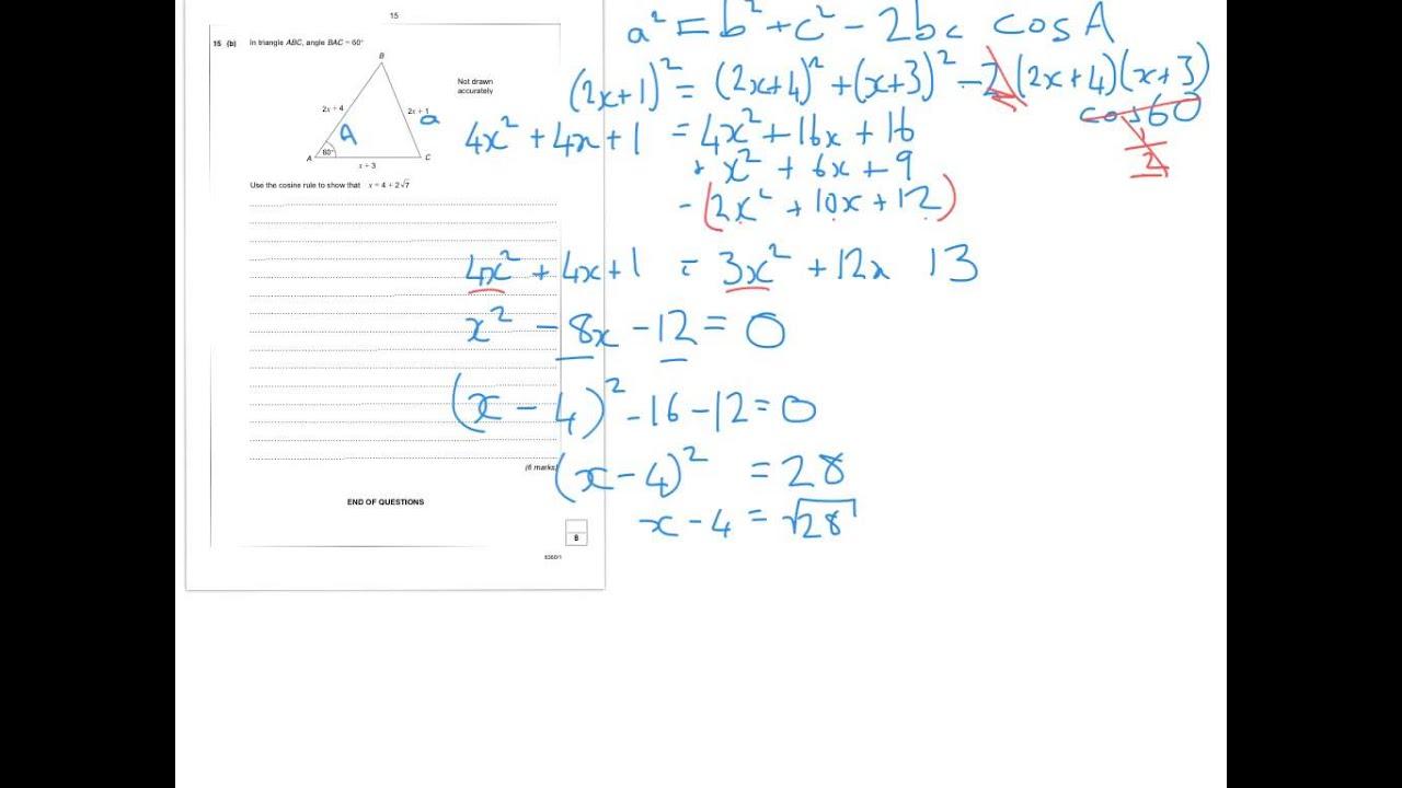 Aqa Level 2 Further Maths Worksheet 8