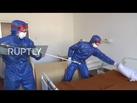 Serbia: Russian coronavirus response team disinfects hospitals in Belgrade