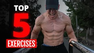 TOP 5 Beginner Exercises For Extreme Muscle Growth (Bodyweight ONLY!)!
