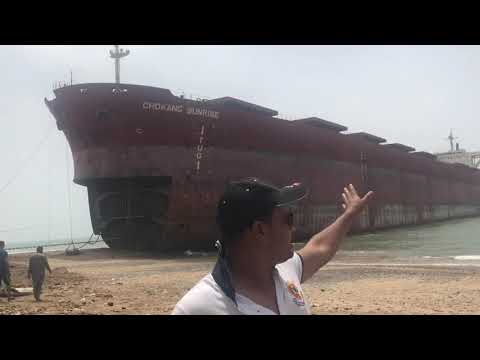 Gadani ship breaking yard is the world's third largest ship breaking yard