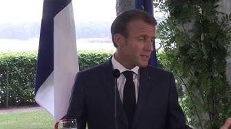 Pääministeri Sipilän ja Ranskan presidentti Macronin tiedotustilaisuus