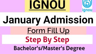 IGNOU|How To Fill Admission Form|January 2021 Admission