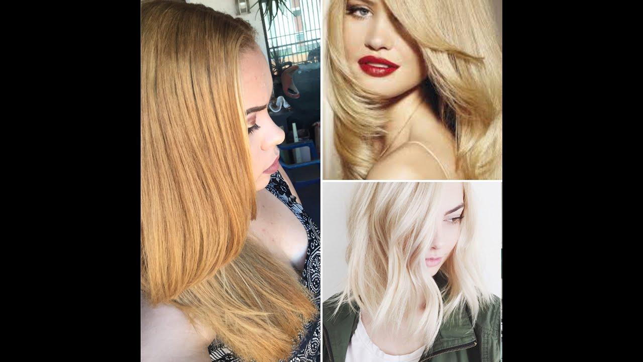 Bleach colores de cabello rubio