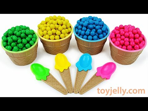 Play Doh Dippin Dots Ice Cream Cup Surprise Toys  Learn Colors Kinder Surprise Eggs for Boys & Girls