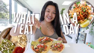 WHAT I EAT IN A DAY while living on my own! *AS AN 18 YEAR OLD*