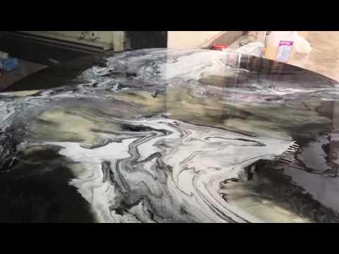 How to do Epoxy Metallic Table Top Countertop Epoxy Resin Art DIY