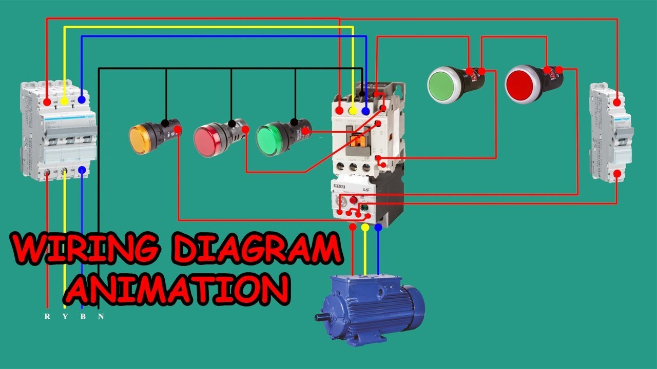 Three Phase Dol Starter Wiring Diagram Animation
