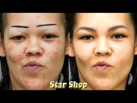 Extreme Photo Makeover Ugly To Pretty Eyebrows Time Lapse