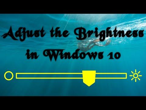 Adjust the Brightness in Windows 10