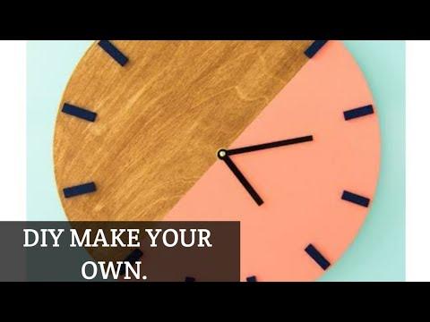 Handmade Wall wood clock DIY idea's/ wall art crafts ideas/wood wall clock decor.
