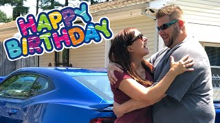 Wife Surprises Husband with New Car for His Birthday