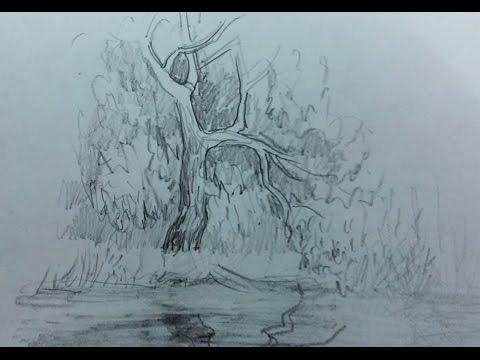 Как нарисовать отражение в воде? Художник: Алексей Епишин. Рисунок карандашом.