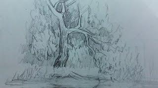 как нарисовать отражение в воде? Художник: Алексей Епишин. Рисунок карандашом