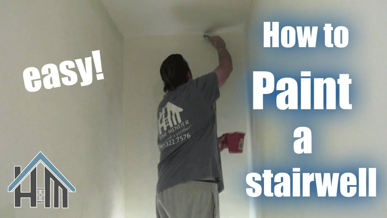 How To Paint Any Stairwell, Staircase. Easy! Home Mender