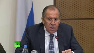 Пресс конференция глав МИД России и Словакии