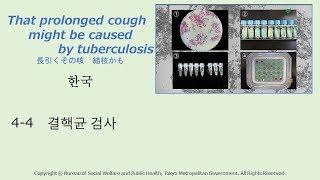4-4 [Korean]結核菌の検査