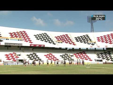 Santa Cruz enfrenta o CRB de Alagoas pela Copa do Nordeste   SBT Brasil (20/02/18)