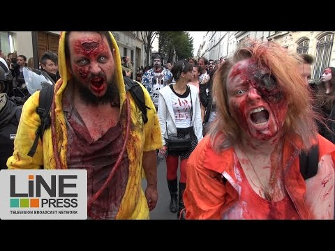 Alerte les zombies attaquent. Zombie Walk / Paris - France 08 octobre 2016