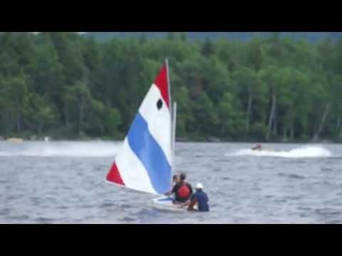 Power boats vs Wind powered boats as seen from Moffitt Beach, Speculator, NY
