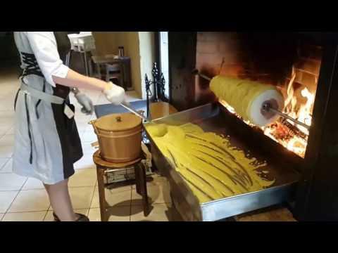 """Traditional Lithuanian cake - """"Šakotis"""" baking"""