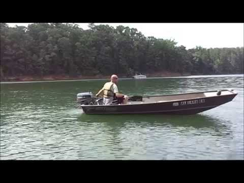 Jon boat with Yamaha 25 HP on the lake