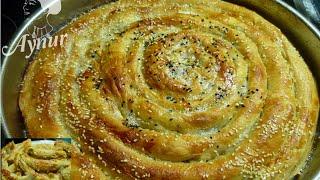 Türkische Börek mit selbstgemachtem Yufka# Ev yapimi tepsi böregi#meinerezepte