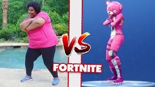 MOM VS DAD FORTNITE DANCE CHALLENGE! All The Dances!