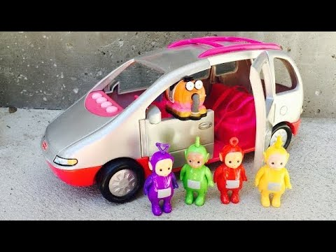 COUNTING and COLORS with FISHER PRICE Musical Van and TELETUBBIES Toys!