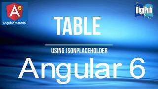 How to use Angular Material Table in Angular6