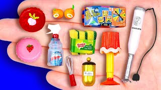 24 EASY DIY MINIATURE FOOD AND CRAFTS FOR BARBIE DOLLHOUSE