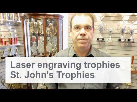 St. John's Trophies | Laser Engraving Trophy Shop | SpeedMarker 300