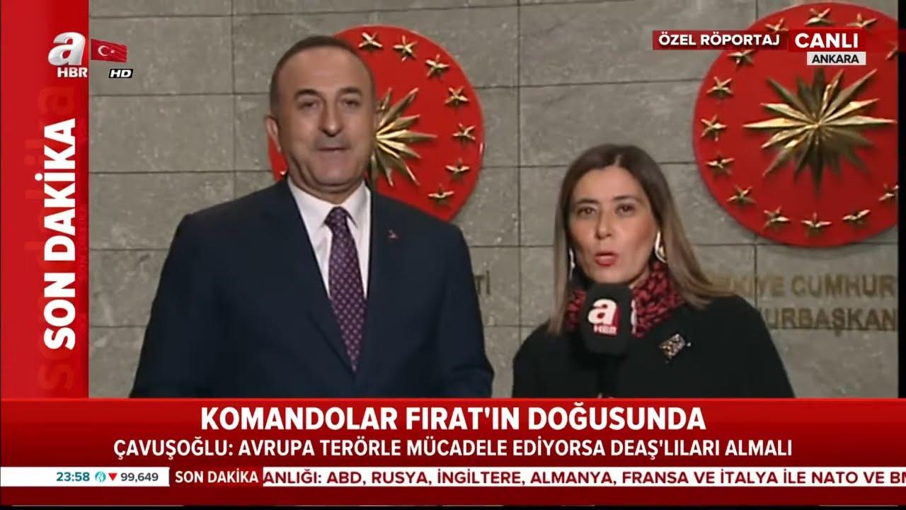 Dışişleri Bakanı Çavuşoğlu'ndan Barış Pınarı Harekatı'yla İlgili Flaş Açıklamalar!